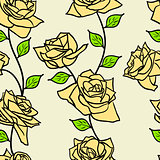 Beautiful  seamless wallpaper with rose flowers