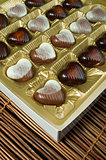 Chocolates in the shape of hearts