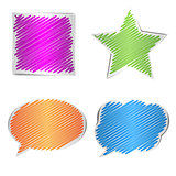 Scribbled collection of shape, vector illustration