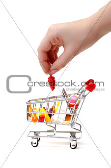 Shopping Cart with Hand