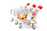 Shopping Carts with Food