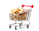 Shopping Cart with Peanuts
