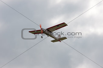 RC model airplane flying in the sky