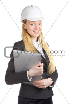 Engineer  Woman With Laptop