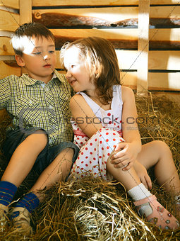 Children on Hayloft