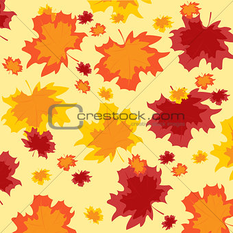 Background from autumn sheet