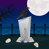 Night on graveyard