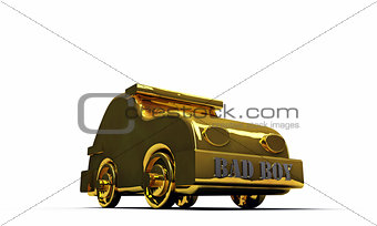 golden car