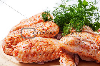 Spicy raw chicken