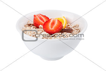 Porridge  in white dish