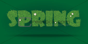 Spring seasonal text wallpaper. Also available as a Vector in Adobe illustrator EPS format, compressed in a zip file.
