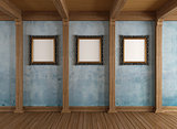Old wooden room with classic frame