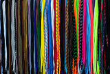 colorful shoe laces to get up an article for sale