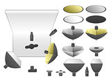 Vector set of studio equipment 