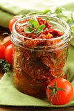 sun-dried tomatoes with herbs and olive oil