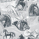 Horses Seamless Pattern
