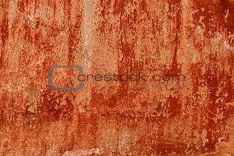 Old red painted wall