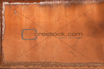Old iron rusty plate