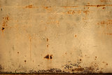 Old tin rusty wall