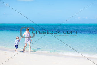 family at the perfect beach