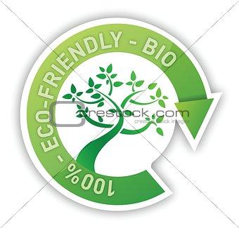 organic sign tree cycle