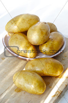 potatos in natural light