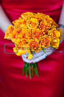 orange rose bouquet