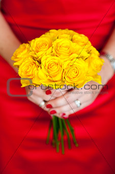 yellow bouquet of roses