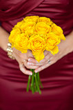 fresh yellow rose bouquet