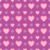 Seamless Heart and Snowflake Pattern
