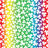 Seamless Rainbow and Shamrock Pattern