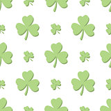 Seamless Light Green Shamrocks