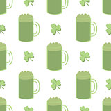 Seamless Shamrocks and Green Beer