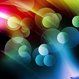 Colorful fantasy bubble, abstract fantasy background