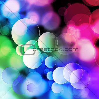 Movement Colorful bubbles