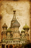 Intercession Cathedral (St. Basil's) on Red Square in Moscow, Ru