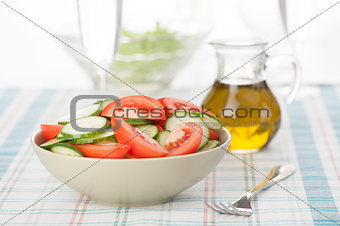 salad with vegetables