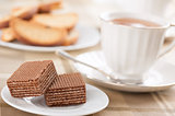 wafers and cup of tea