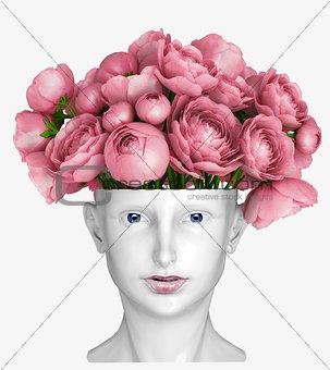 head as a vase