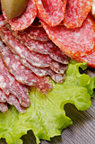 Slices of Salami and Smoked Sausage