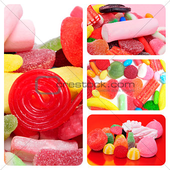 candies collage