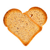 heart-shaped bread rusks
