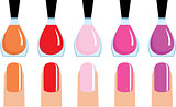 Set of 5 nail polish