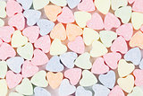Candy hearts background