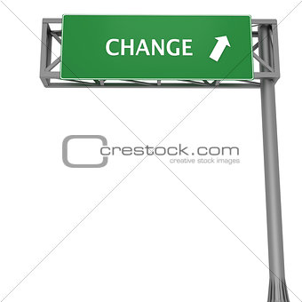 Change signboard