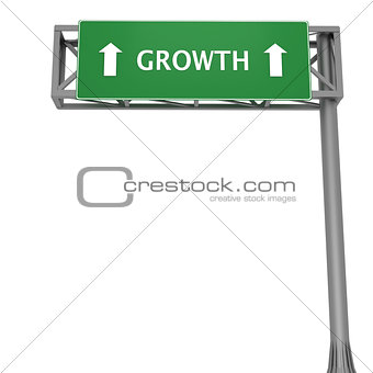Growth signboard