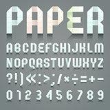 Alphabet folded of toilet blue paper