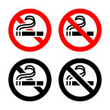 No smoking, symbols