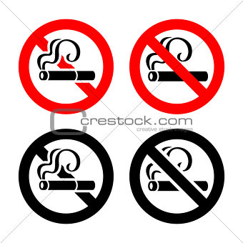 Set signs - No smoking