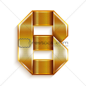 Letter metal gold ribbon - B